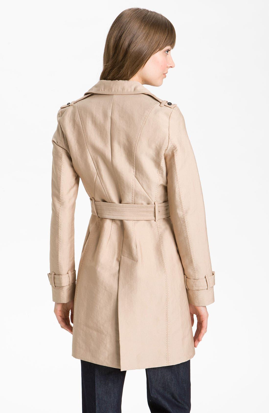 Alternate Image 2  - Kristen Blake Belted Trench Coat