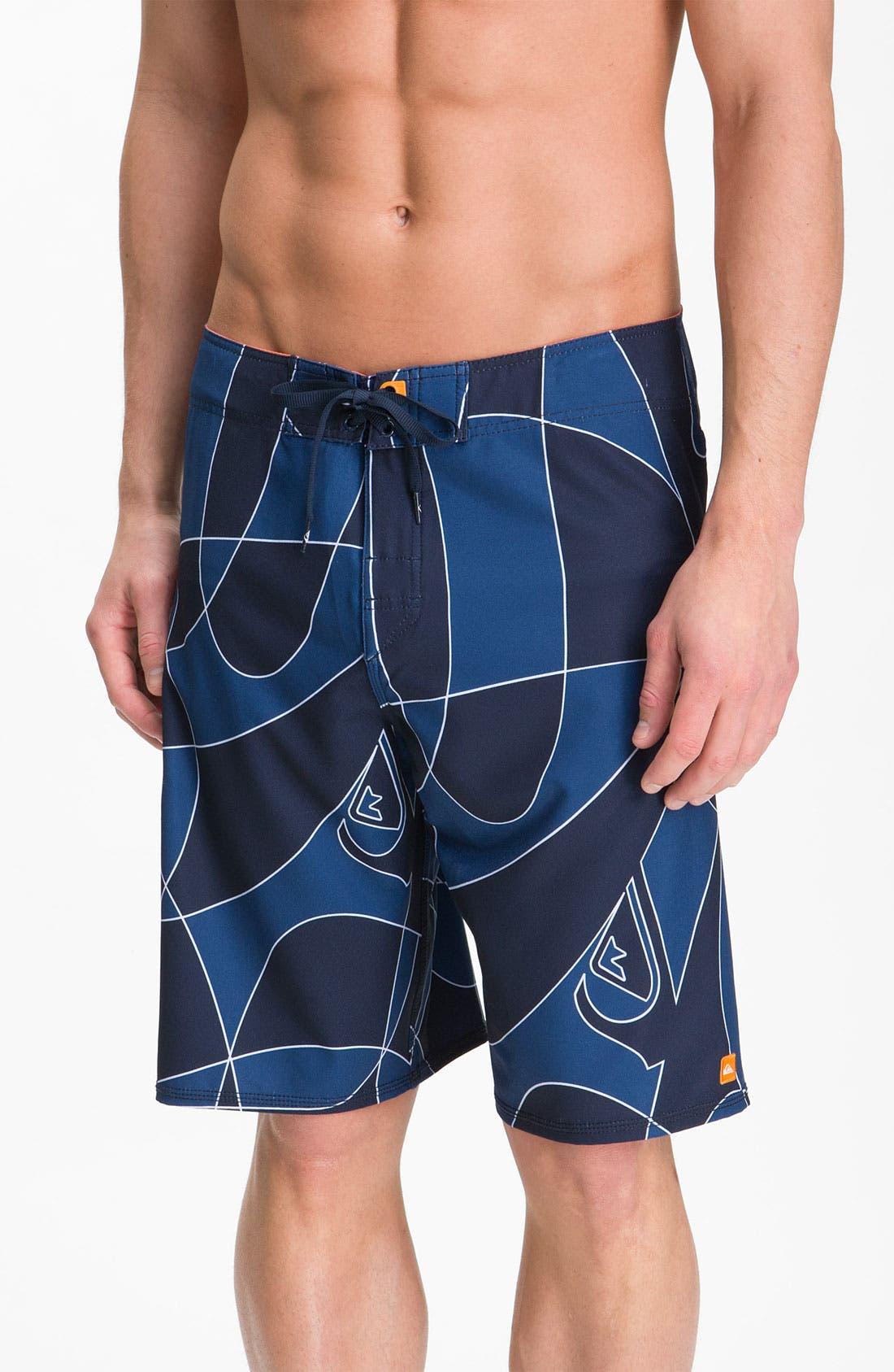 Main Image - Quiksilver Waterman 'Warp Speed' Swim Shorts