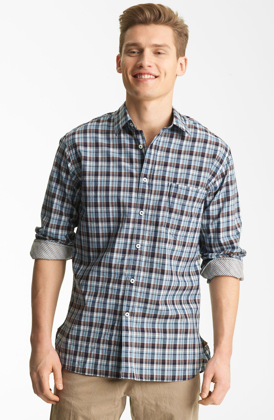 Alternate Image 1 Selected - Billy Reid 'Bagwelt' Plaid Woven Shirt