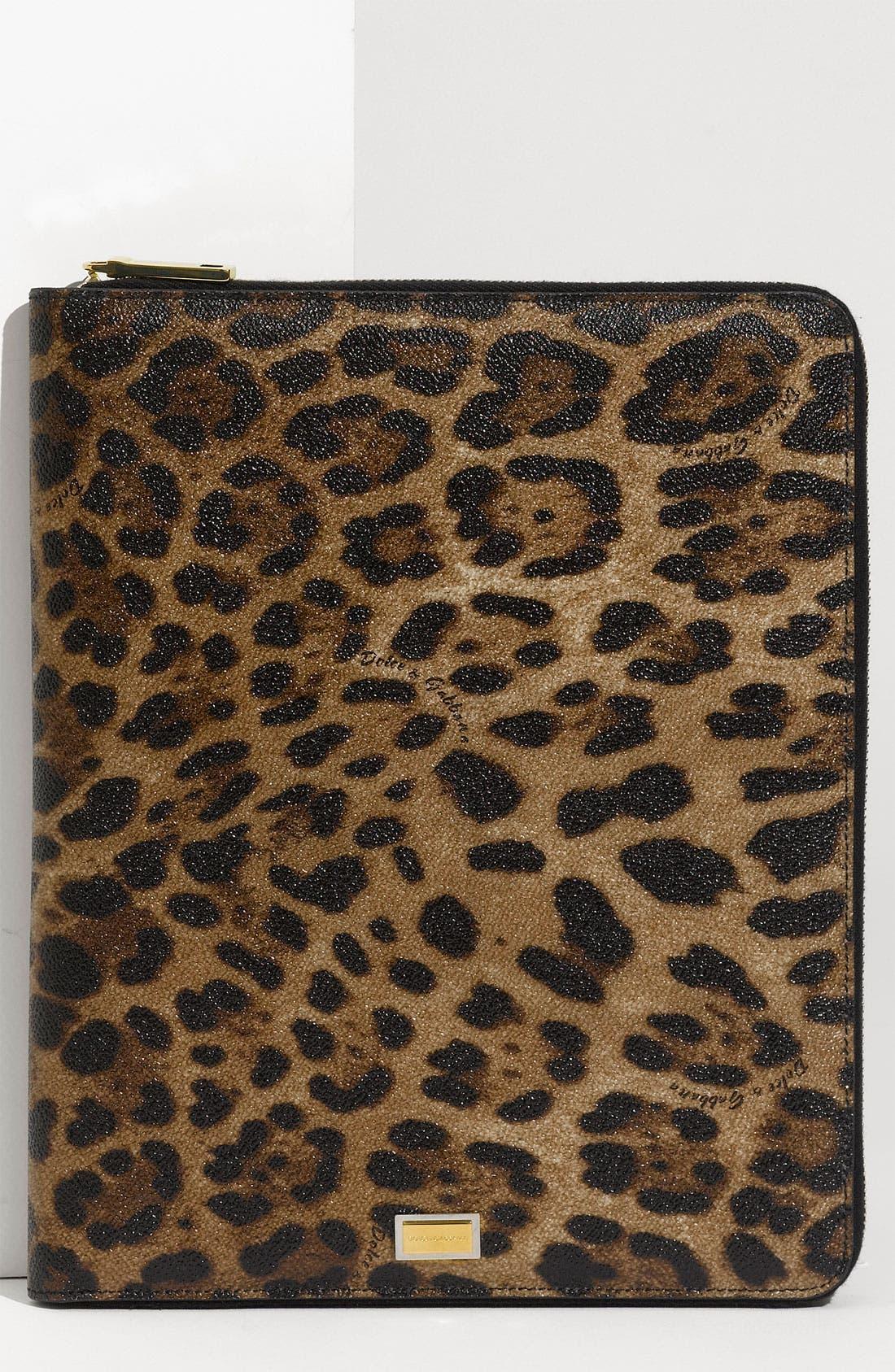 Alternate Image 1 Selected - Dolce&Gabbana Zip Around iPad Case