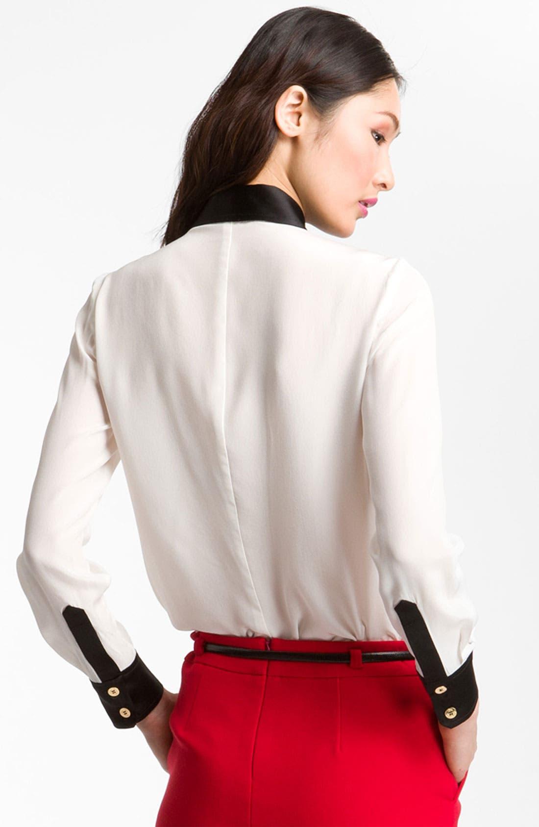 Alternate Image 2  - Trina Turk 'Carrlyne 2' Contrast Trim Shirt