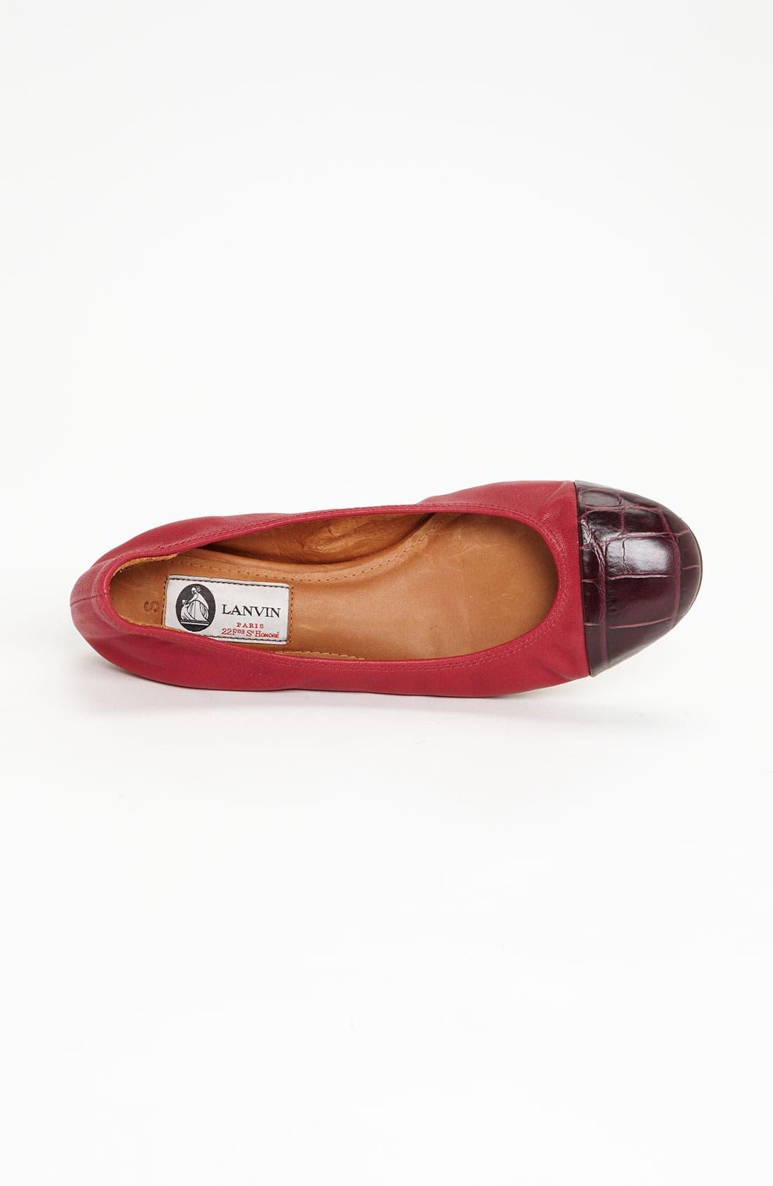 Alternate Image 3  - Lanvin Cap Toe Ballerina Flat
