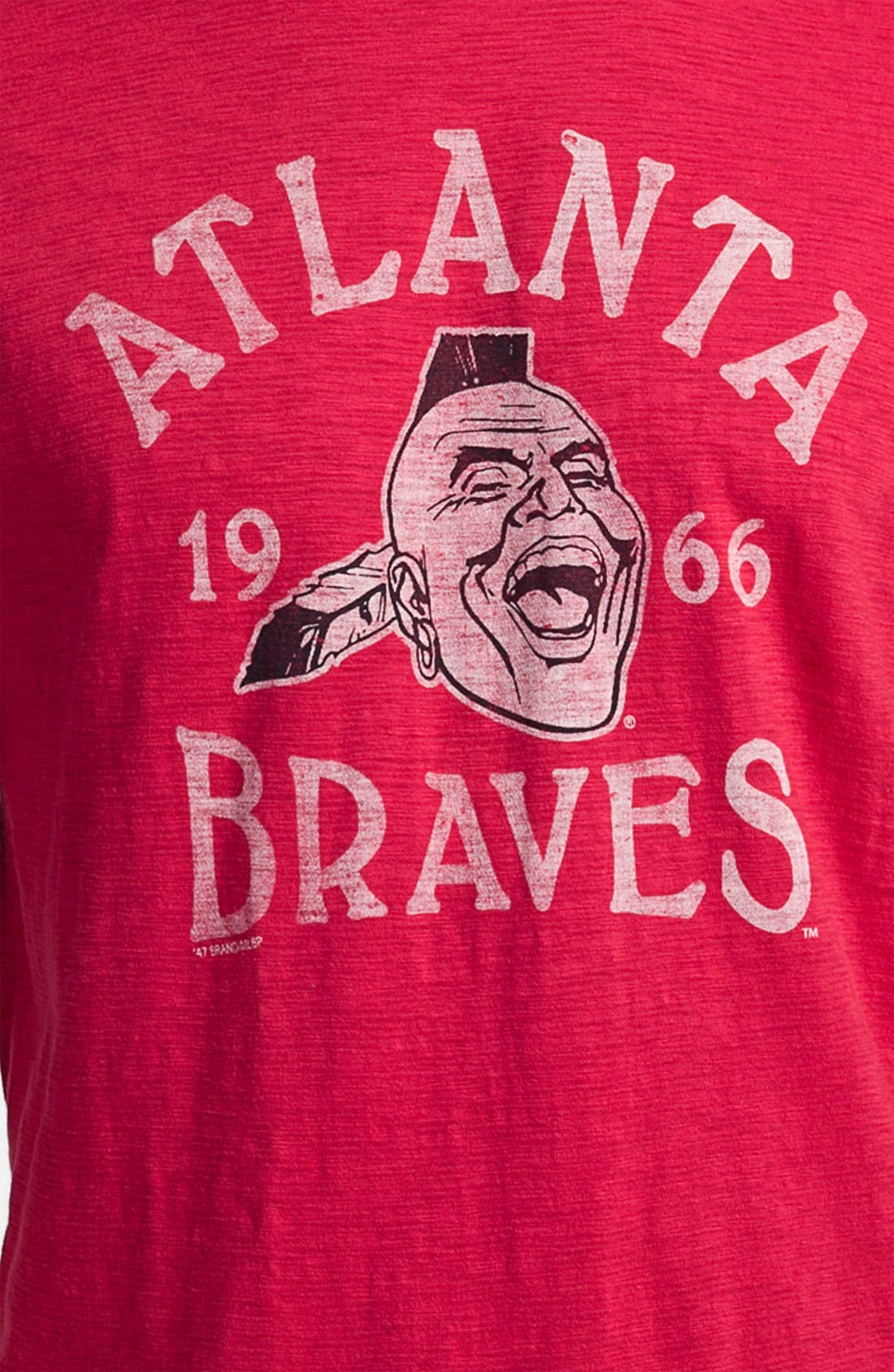 Alternate Image 3  - Banner 47 'Atlanta Braves' Crewneck T-Shirt