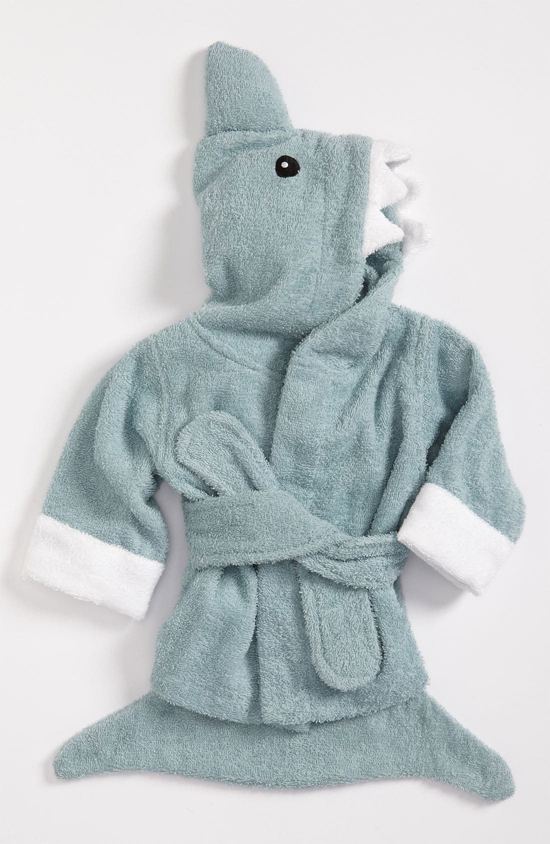 Alternate Image 2  - Baby Aspen 'Let the Fin Begin' Terry Robe (Baby)