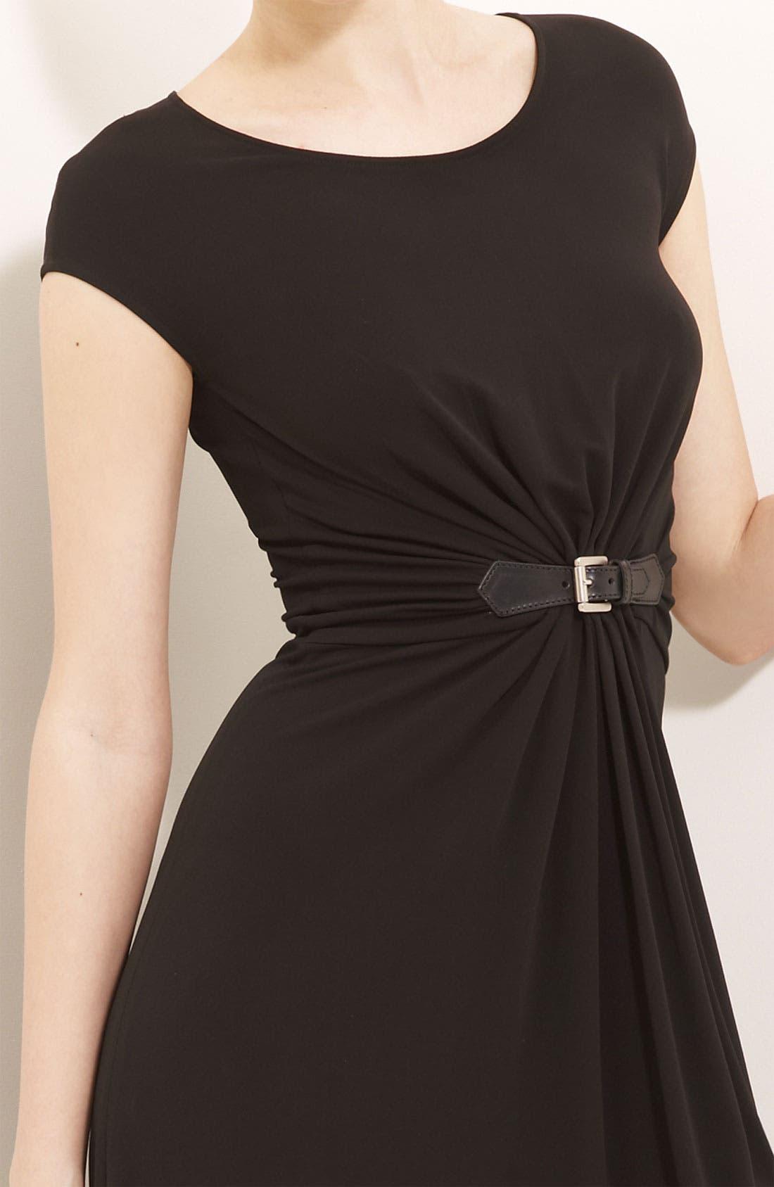 Alternate Image 2  - Michael Kors Gather Front Matte Jersey Dress