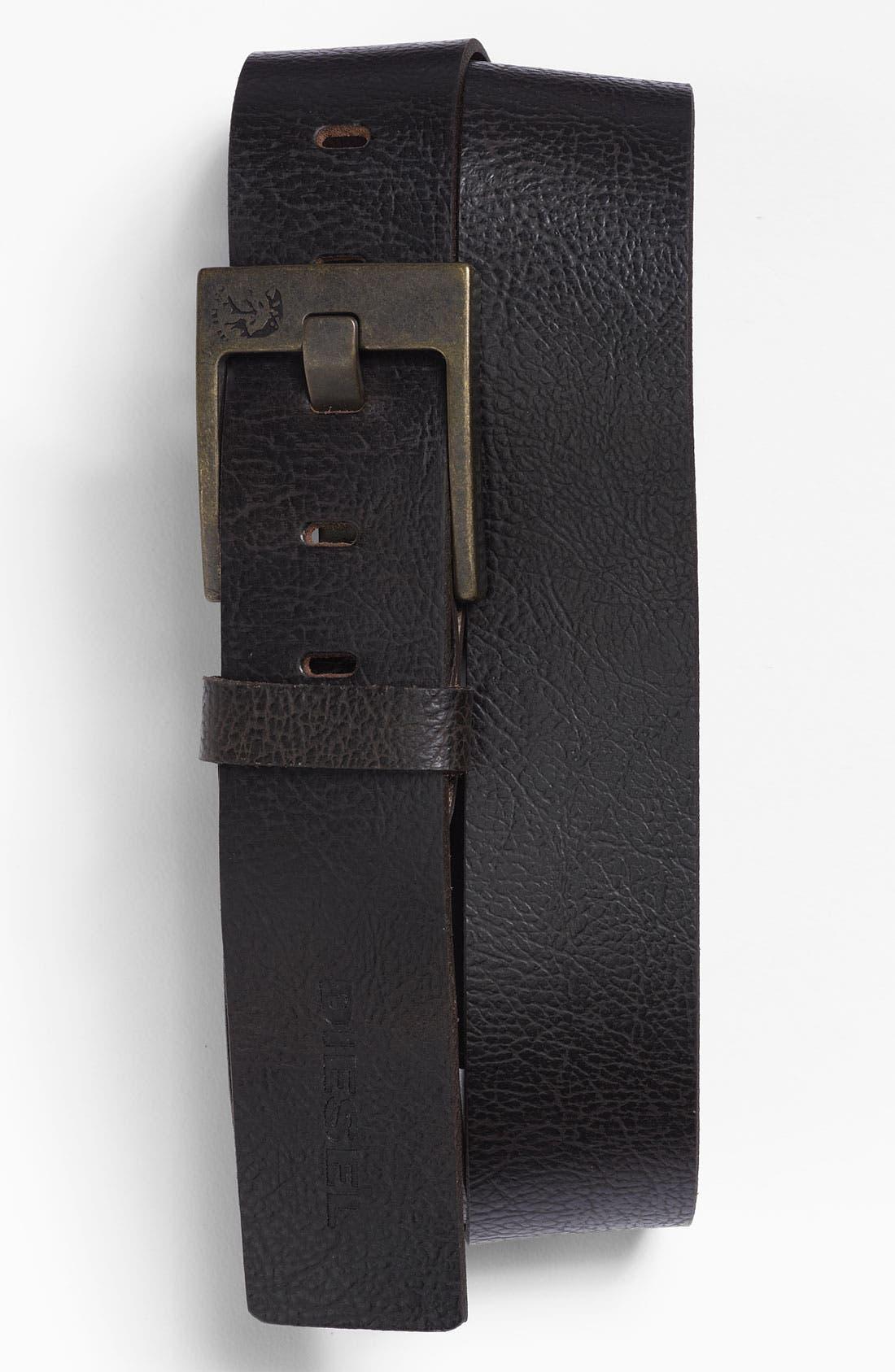 Alternate Image 1 Selected - DIESEL® 'Bauser Service' Leather Belt