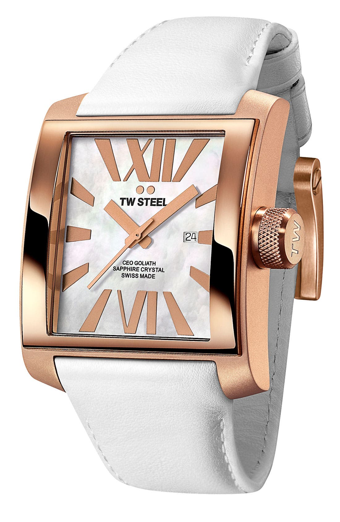 Alternate Image 1 Selected - TW Steel 'CEO Goliath' Rose Gold Watch