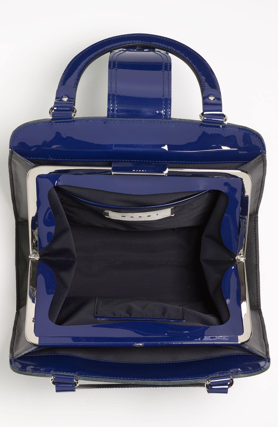 Alternate Image 3  - Marni 'Medium' Patent Leather Frame Bag