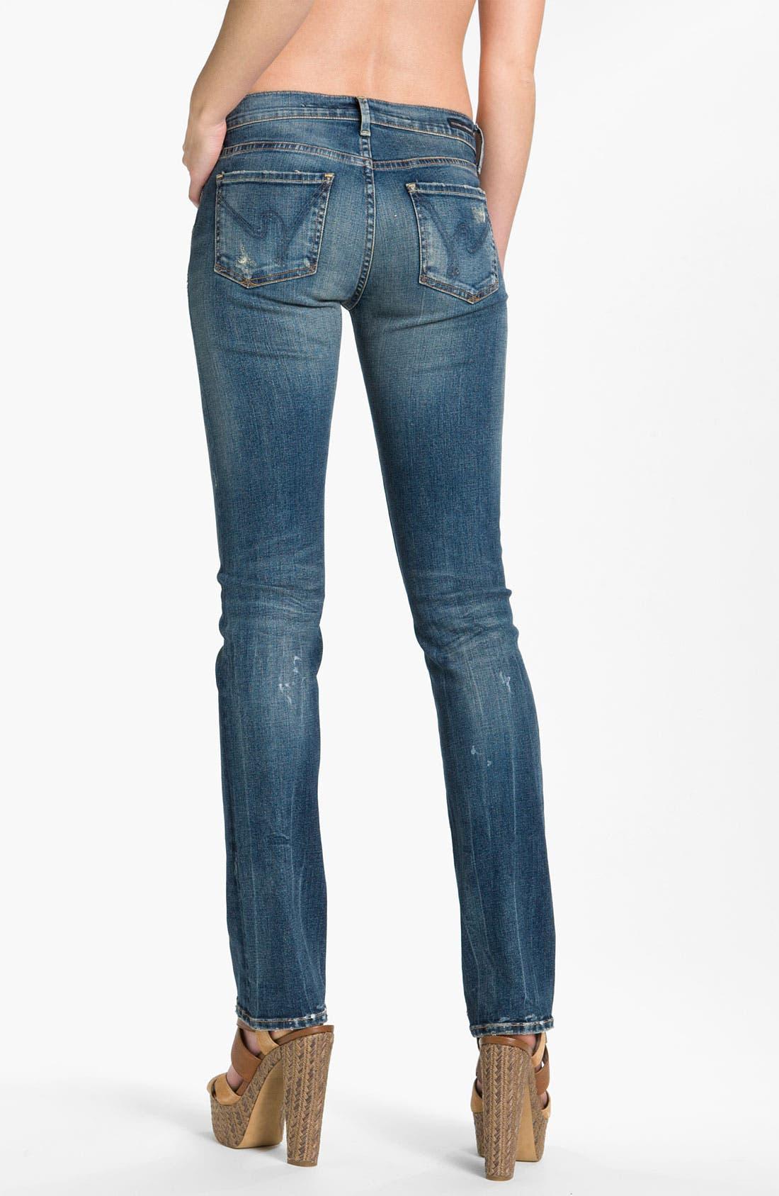 Alternate Image 2  - Citizens of Humanity 'Ava' Straight Leg Stretch Jeans (Slash)