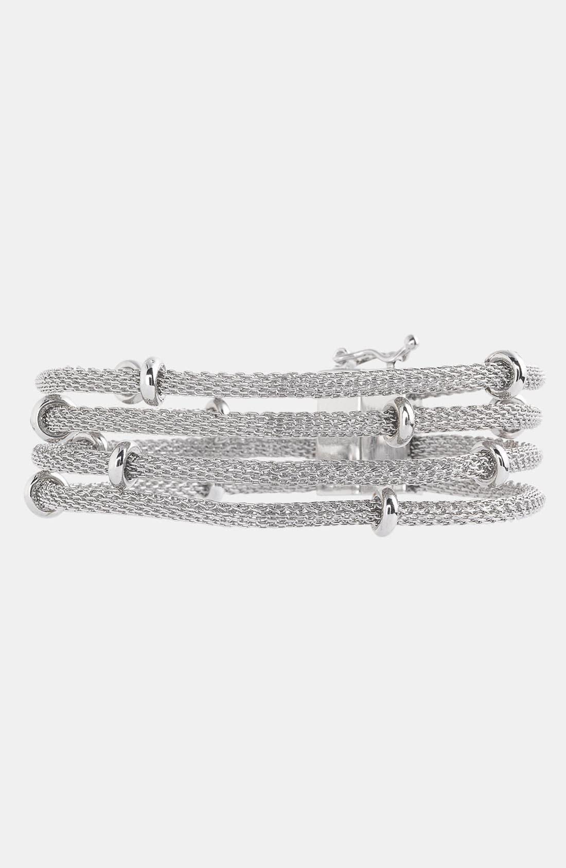 Alternate Image 1 Selected - Anne Klein Multi Row Mesh Bracelet