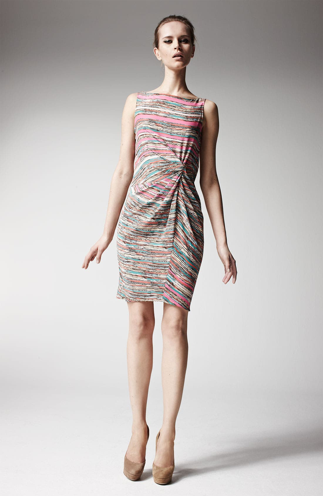 Alternate Image 4  - Thakoon Knot Detail Print Silk Dress