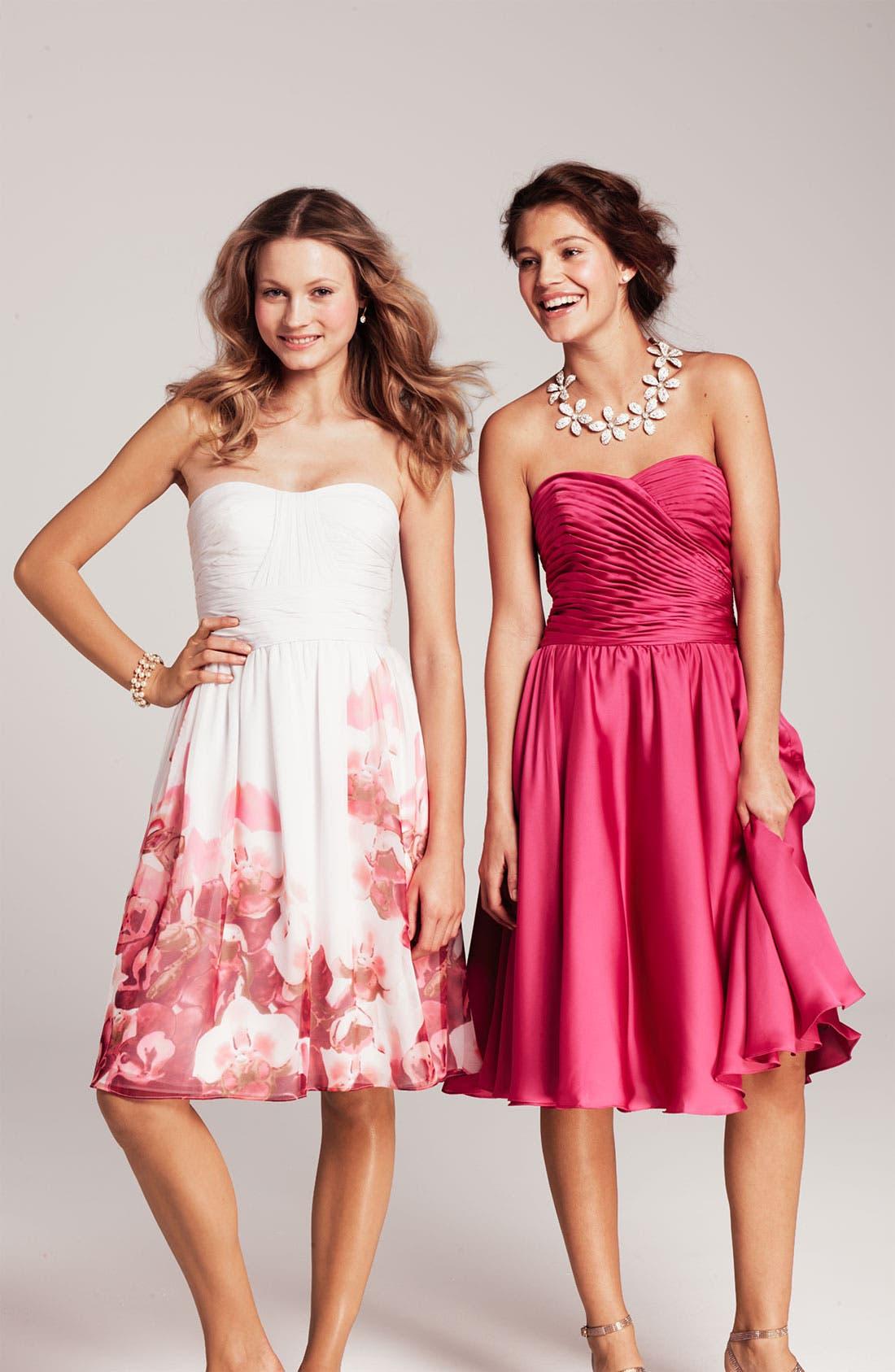 Alternate Image 3  - ML Monique Lhuillier Bridesmaids Strapless Dress