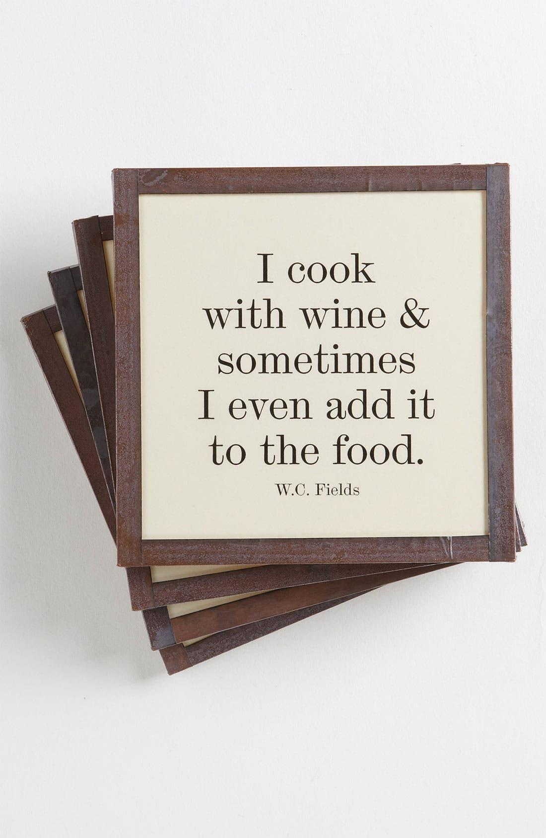 Main Image - Ben's Garden 'I Cook with Wine' Coaster Set