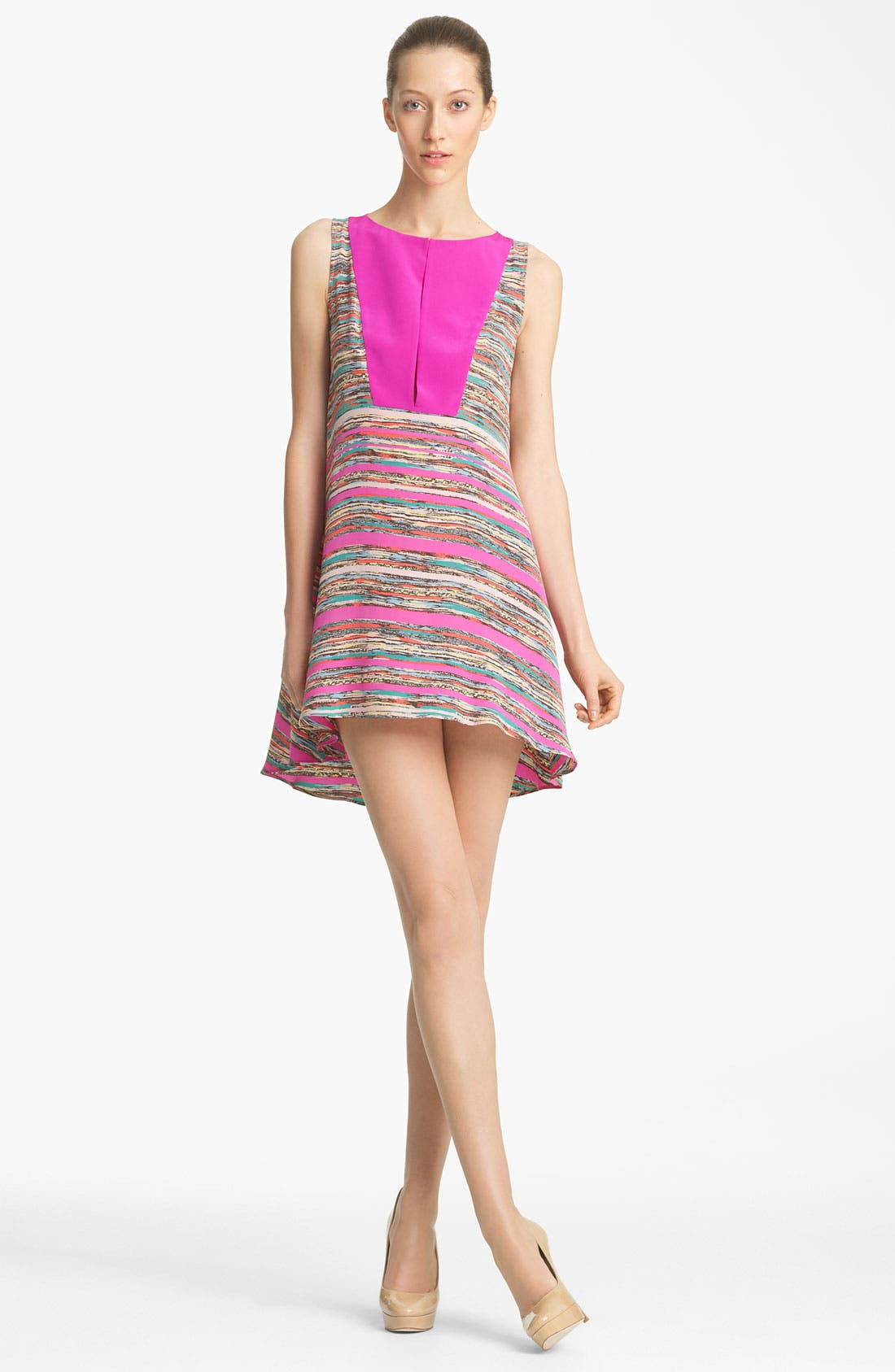Alternate Image 1 Selected - Thakoon Trapeze Print Silk Dress