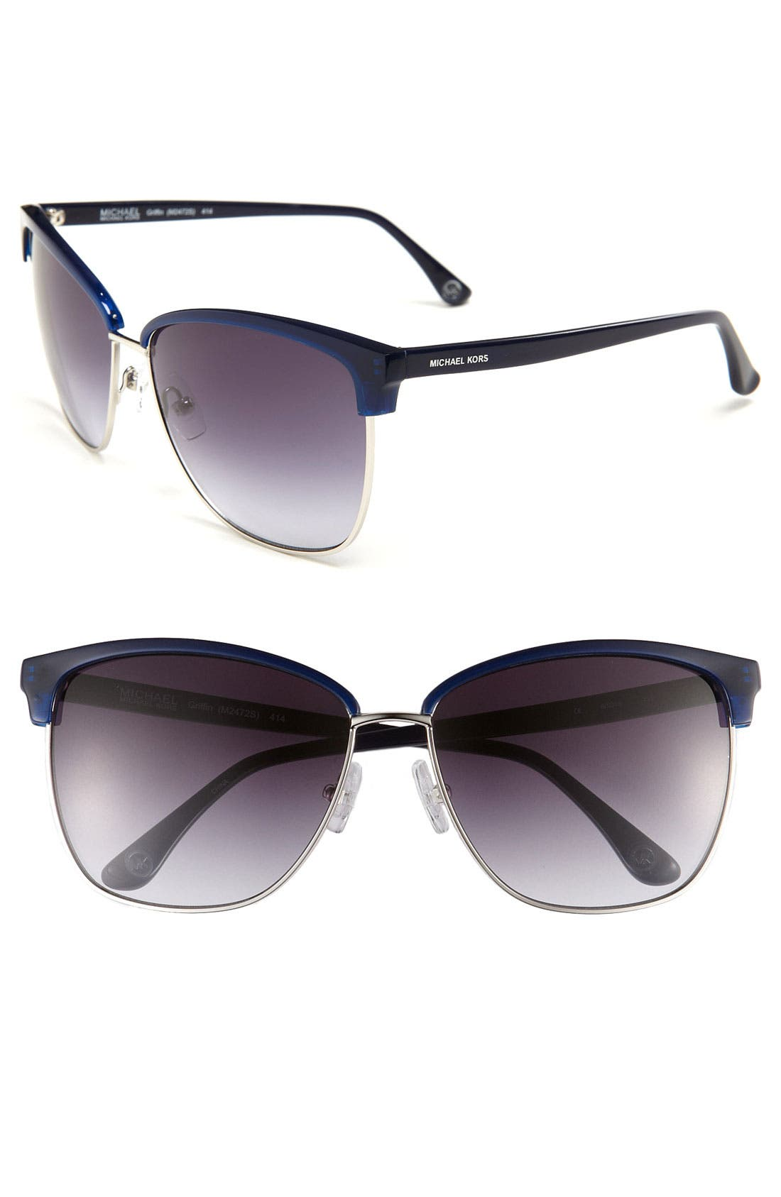 Main Image - MICHAEL Michael Kors 'Griffin' 60mm Retro Sunglasses