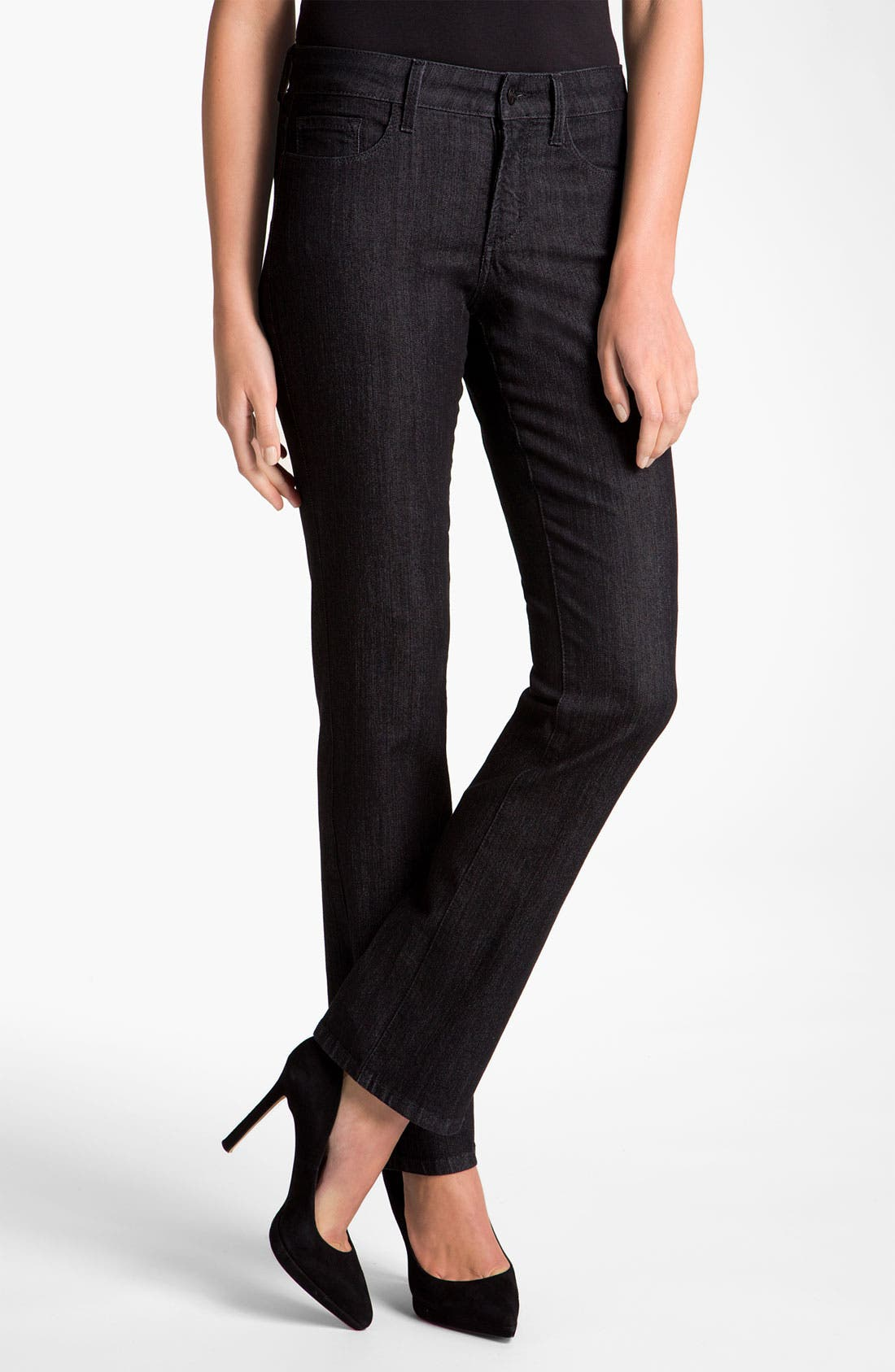 Alternate Image 1 Selected - NYDJ Embroidered Pocket Jeans (Petite)