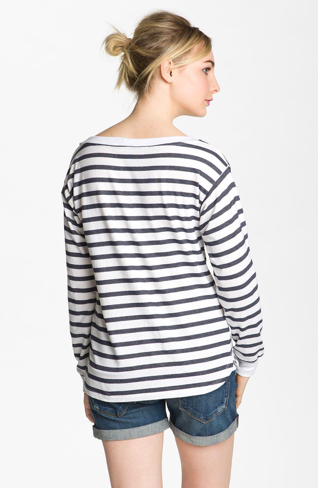 Alternate Image 2  - AG Jeans Nautical Stripe Top
