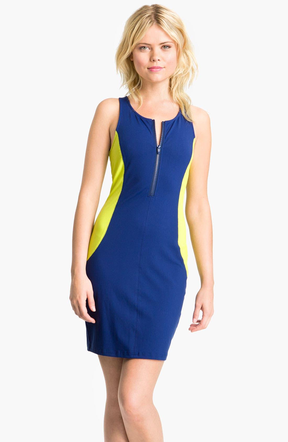 Main Image - Trouvé Colorblock Scuba Dress