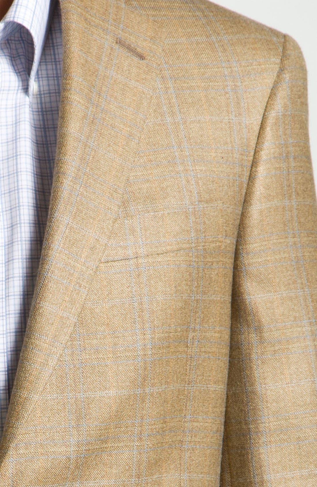 Alternate Image 3  - Hart Schaffner Marx Brown Plaid Wool Sportcoat
