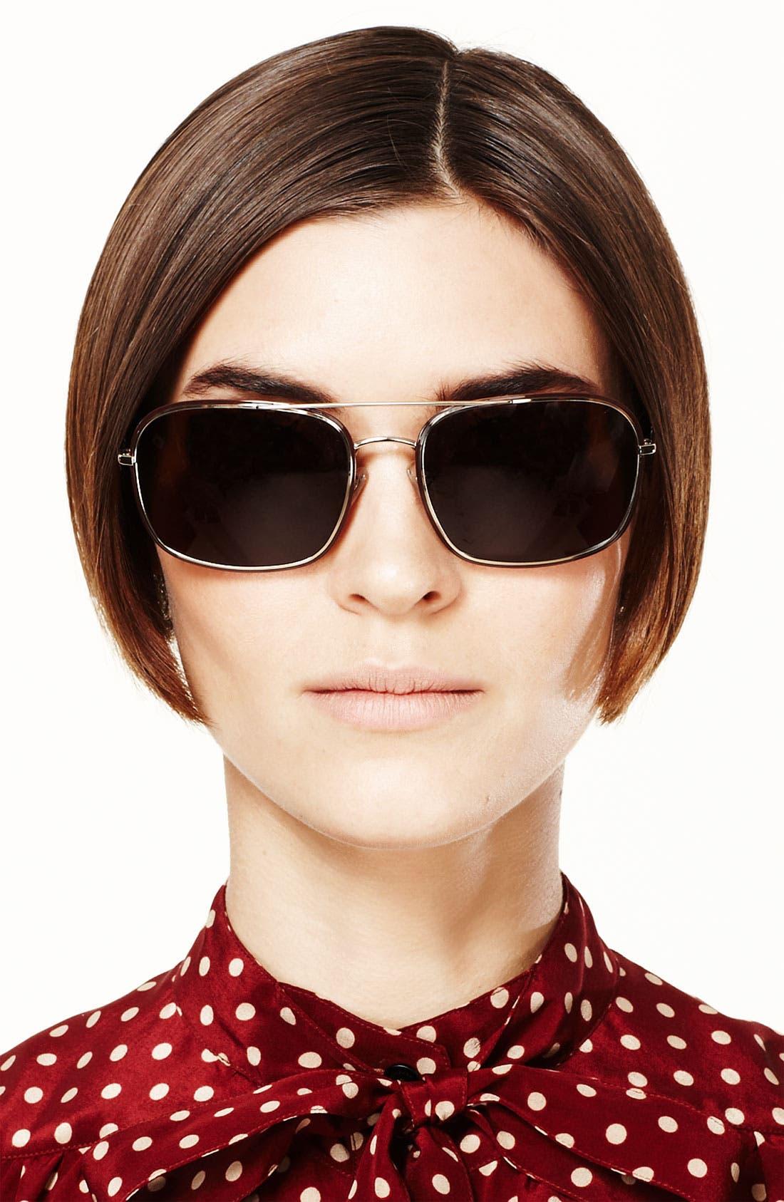 Alternate Image 3  - Burberry Navigator Sunglasses