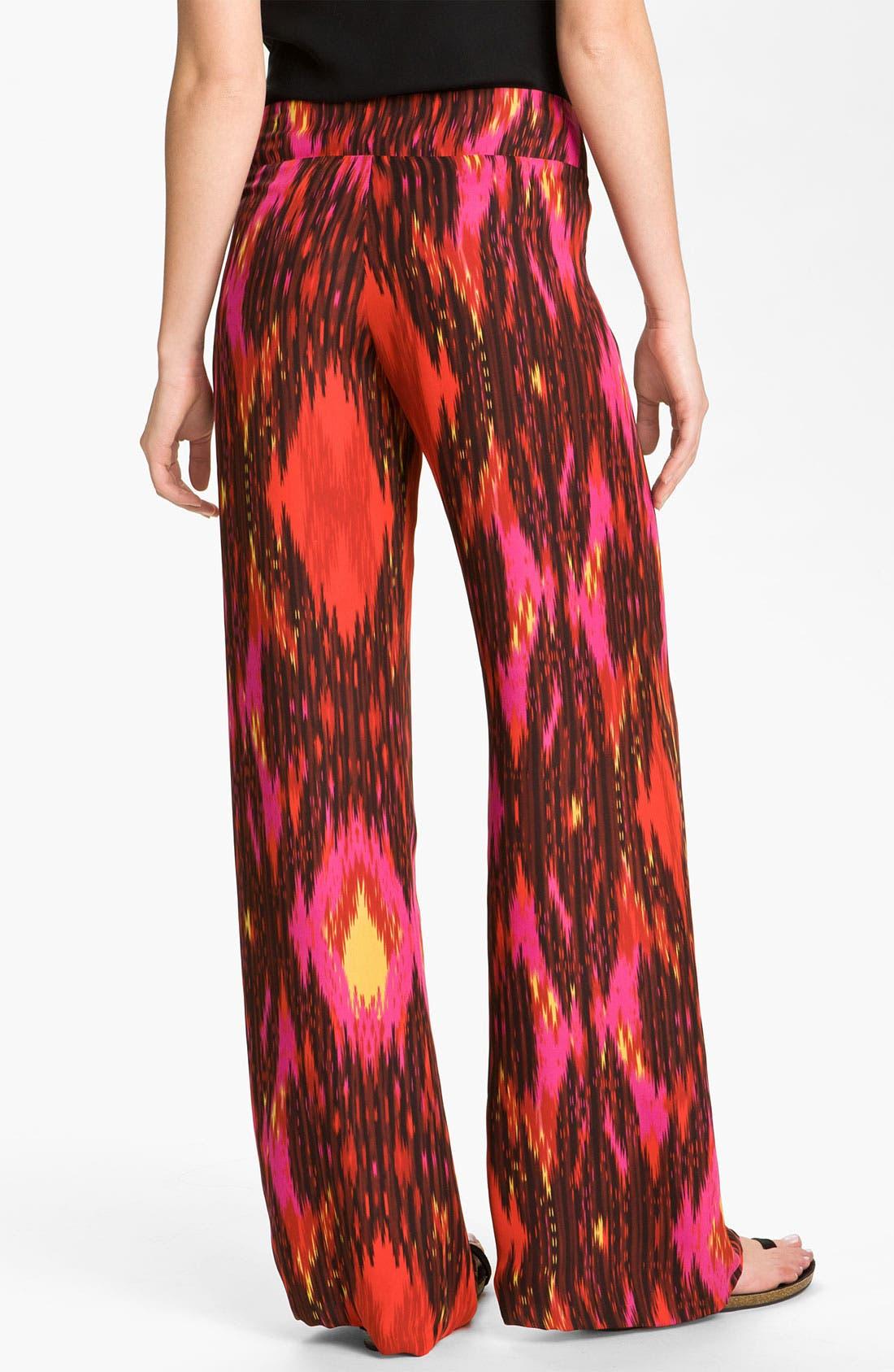 Alternate Image 2  - Haute Hippie Ikat Silk Wide Leg Pants