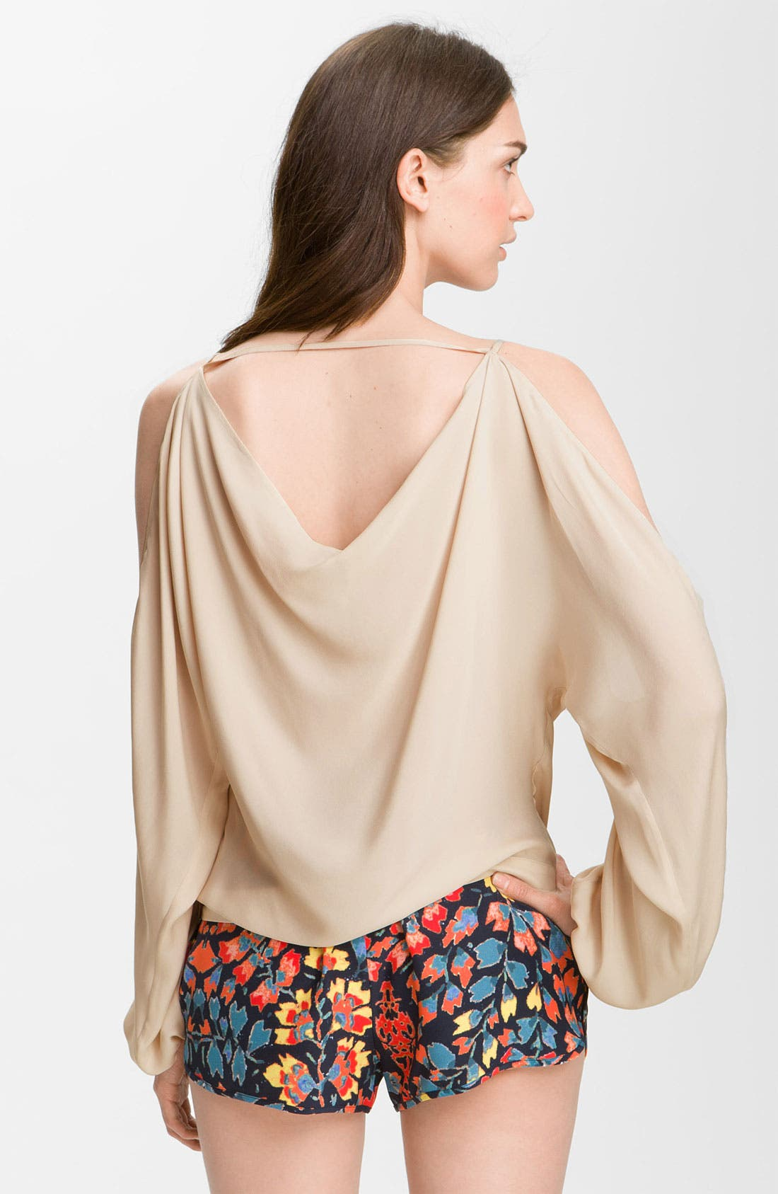 Alternate Image 2  - Haute Hippie Cutout Sleeve Silk Blouse