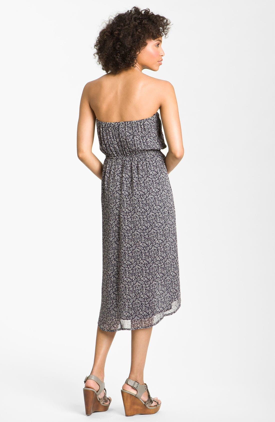 Alternate Image 2  - Peace & Pearls Strapless Faux Wrap Dress
