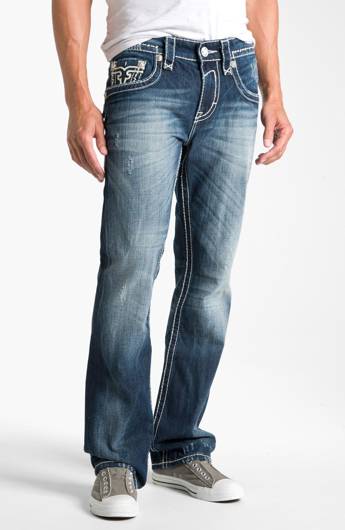 Alternate Image 2  - Rock Revival 'Gary' Straight Leg Jeans (Dark Blue)