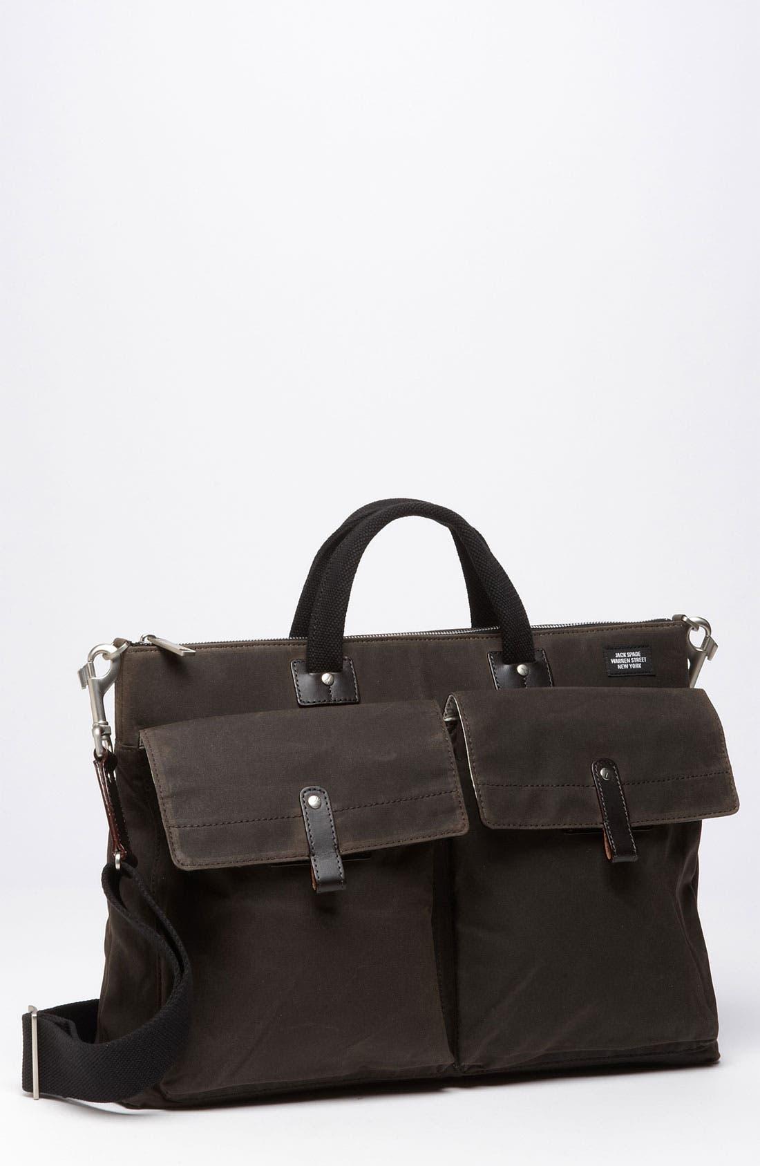Main Image - Jack Spade 'Waxwear' Canvas Pocket Briefcase