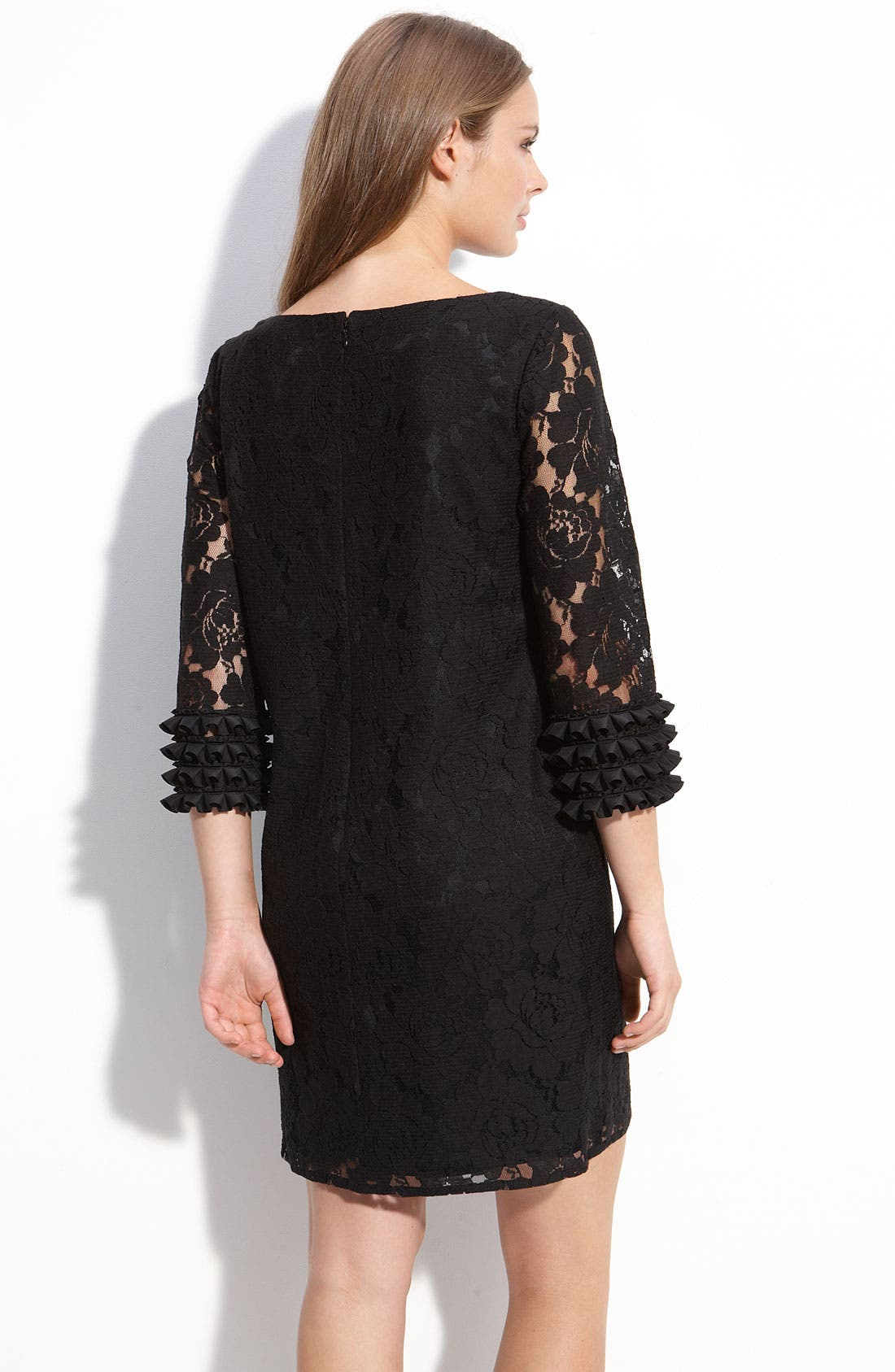 Alternate Image 2  - Maggy London Ruffle Sleeve Lace Shift Dress