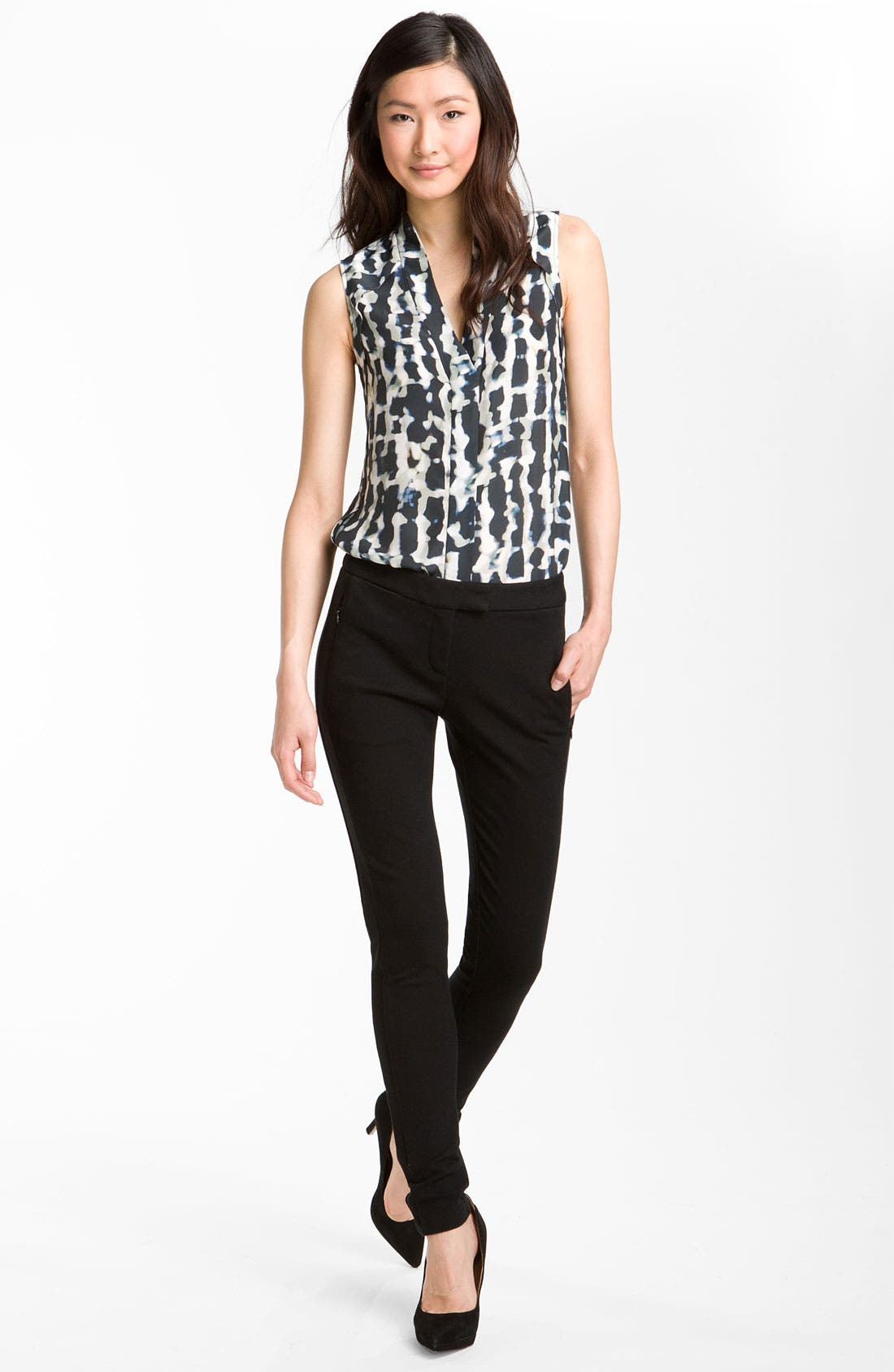 Alternate Image 3  - Theory 'Moha - Abstract Cloud' Print Silk Top