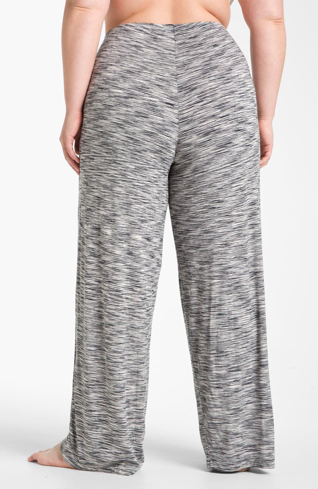 Alternate Image 2  - Hue Space Dye Pajama Pants (Plus)