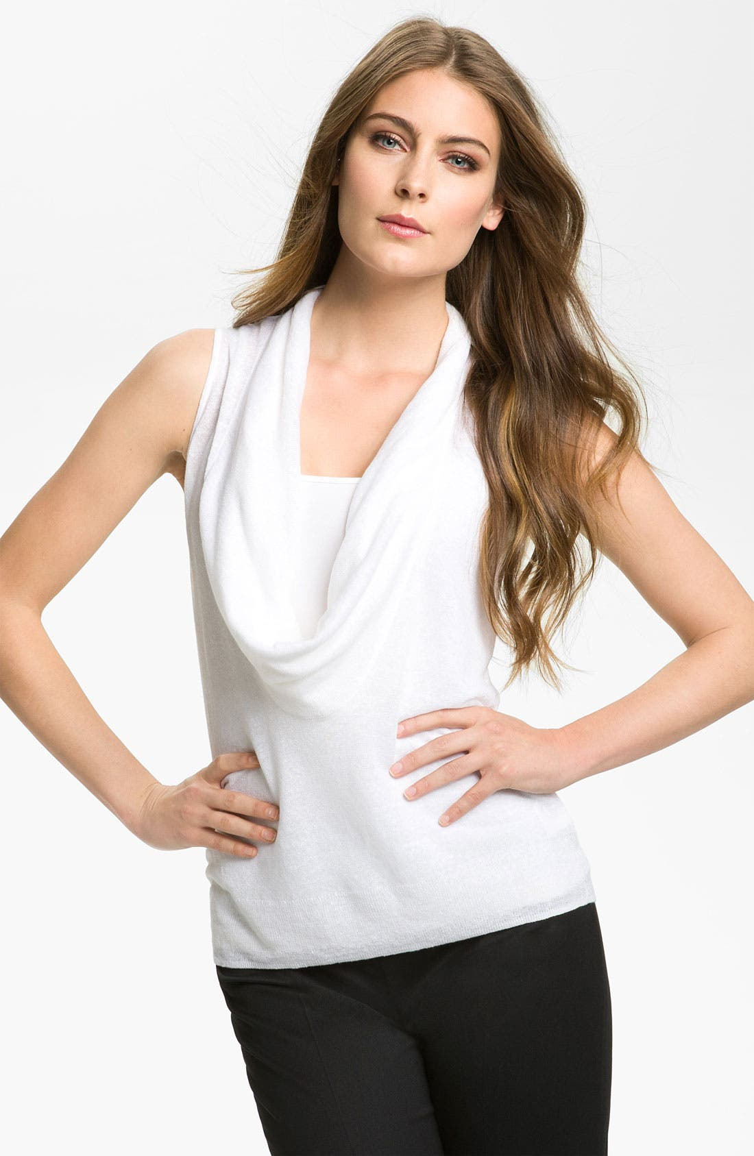Main Image - Nordstrom Collection 'Garza' Cowl Neck Top