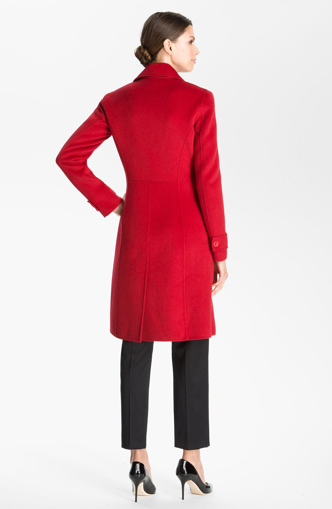Alternate Image 3  - St. John Collection Angora Blend Coat