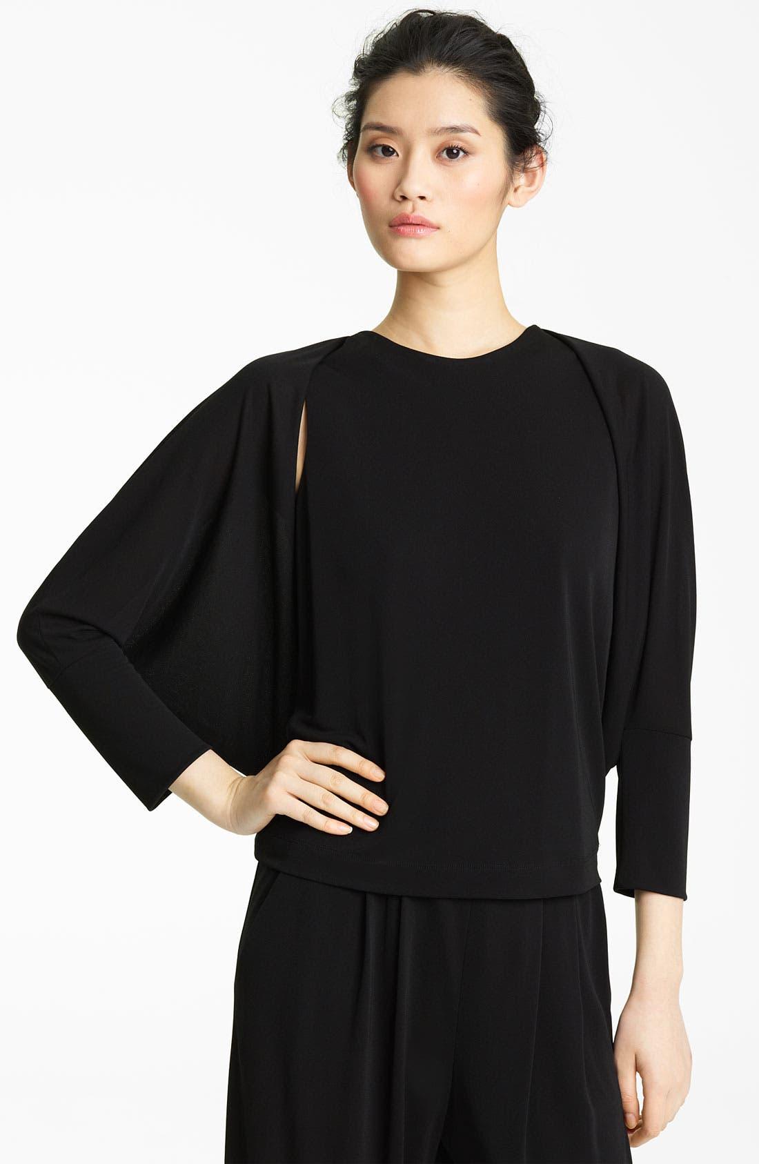 Alternate Image 1 Selected - Lida Baday Matte Jersey Shrug Top