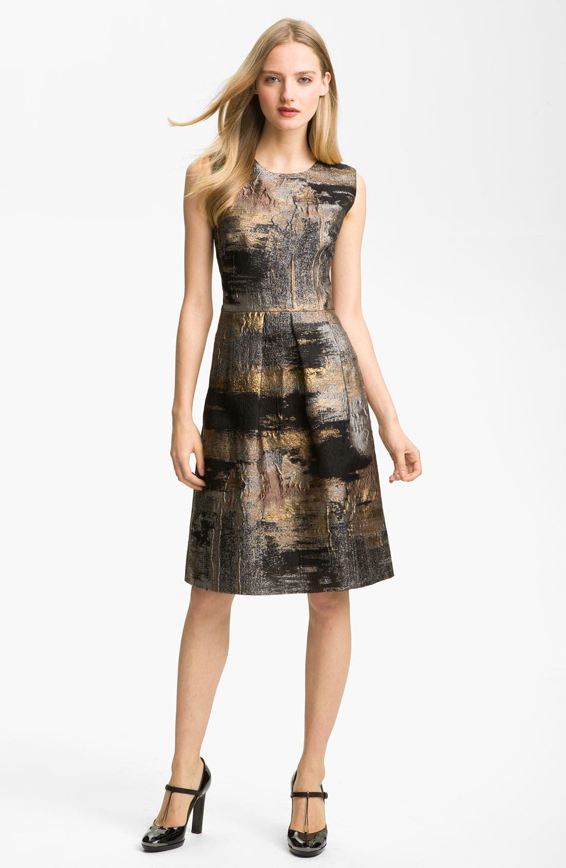 Main Image - Lela Rose Full Skirt Organza Sheath Dress