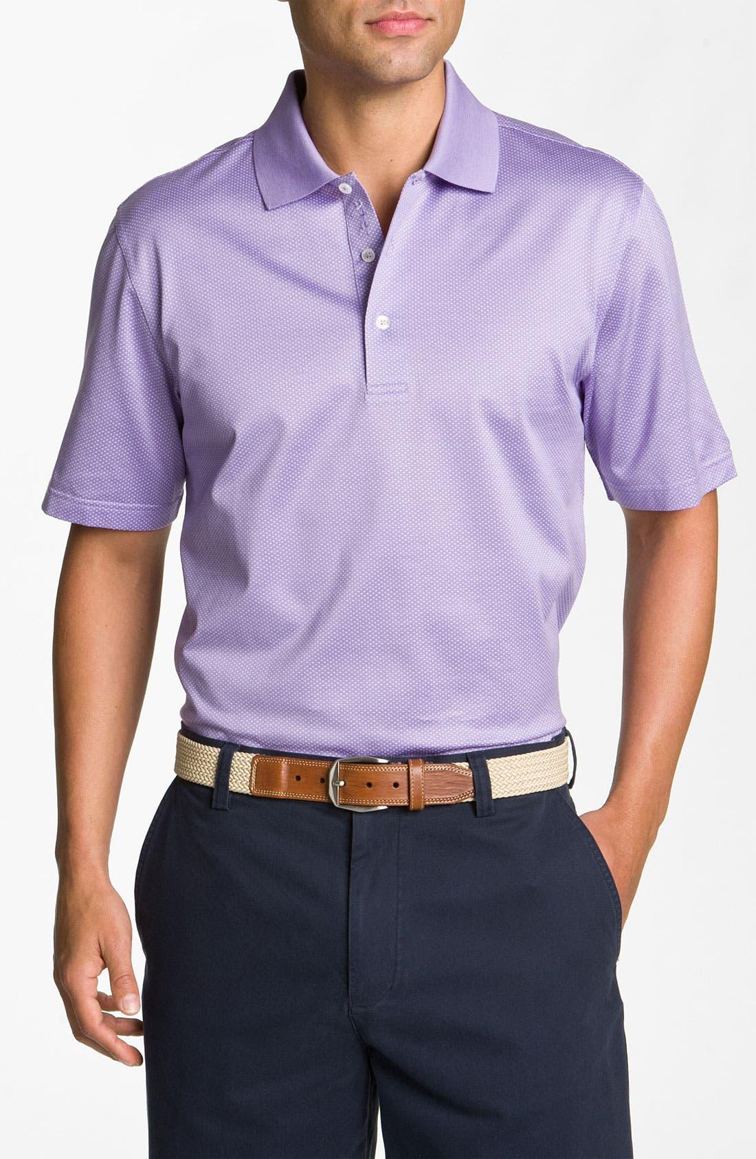 Main Image - Bobby Jones 'Dash' Jacquard Golf Polo