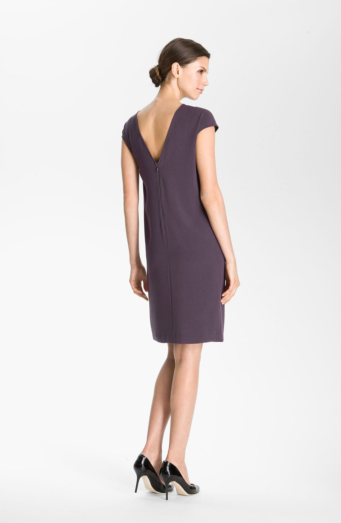 Alternate Image 2  - St. John Collection V-Back Luxe Crepe Dress