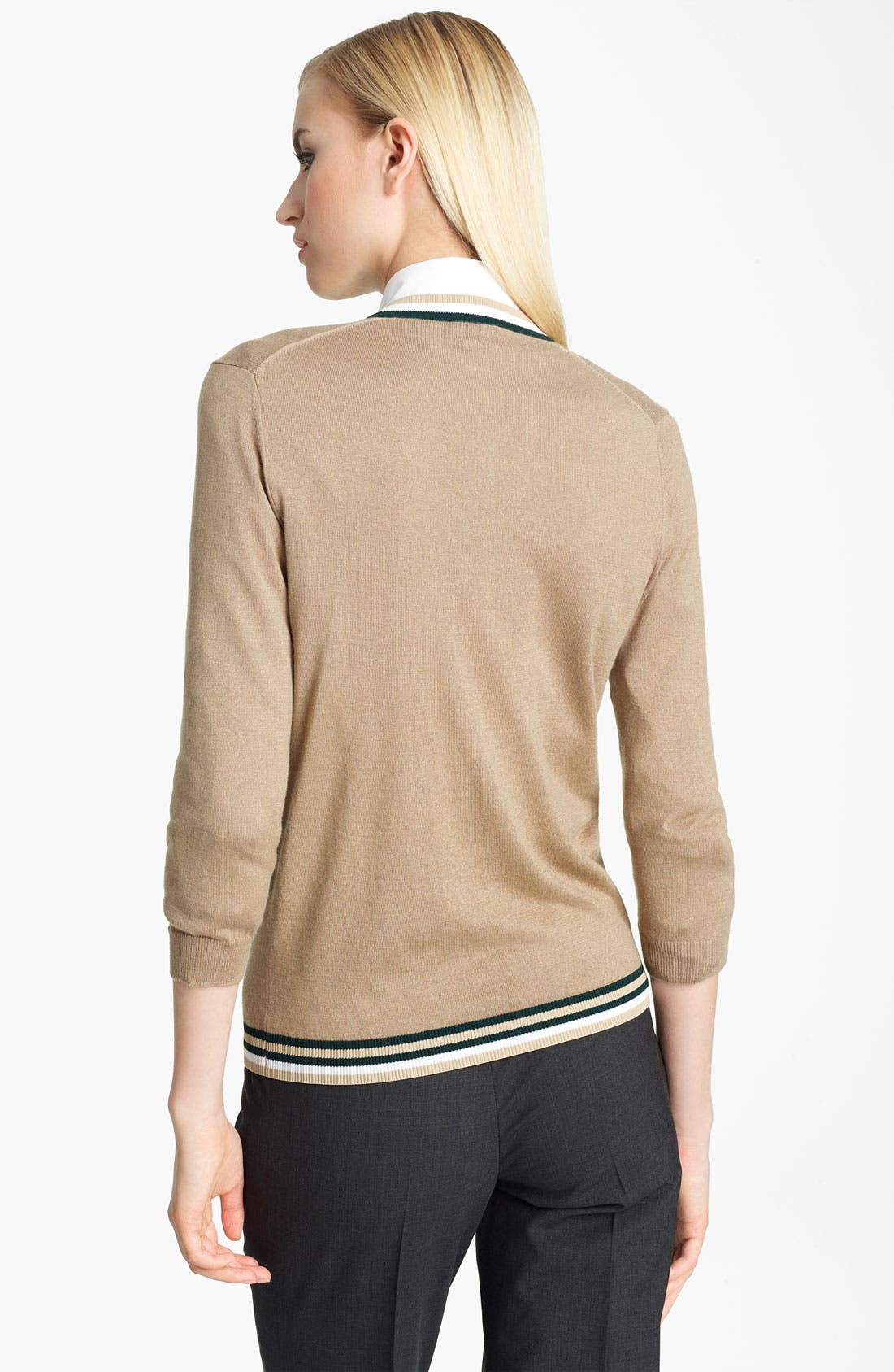 Alternate Image 2  - Jil Sander Navy Contrast Stripe Trim Cardigan