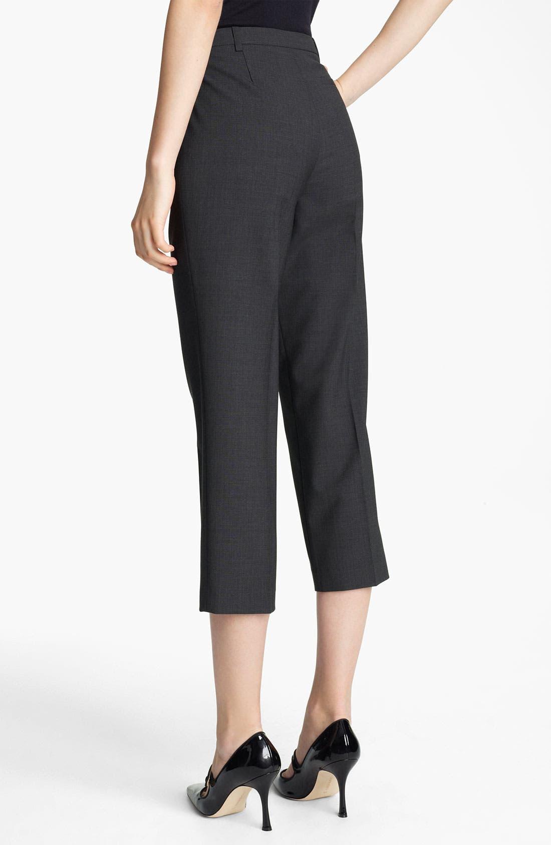 Alternate Image 2  - Jil Sander Navy Crop Stretch Wool Pants