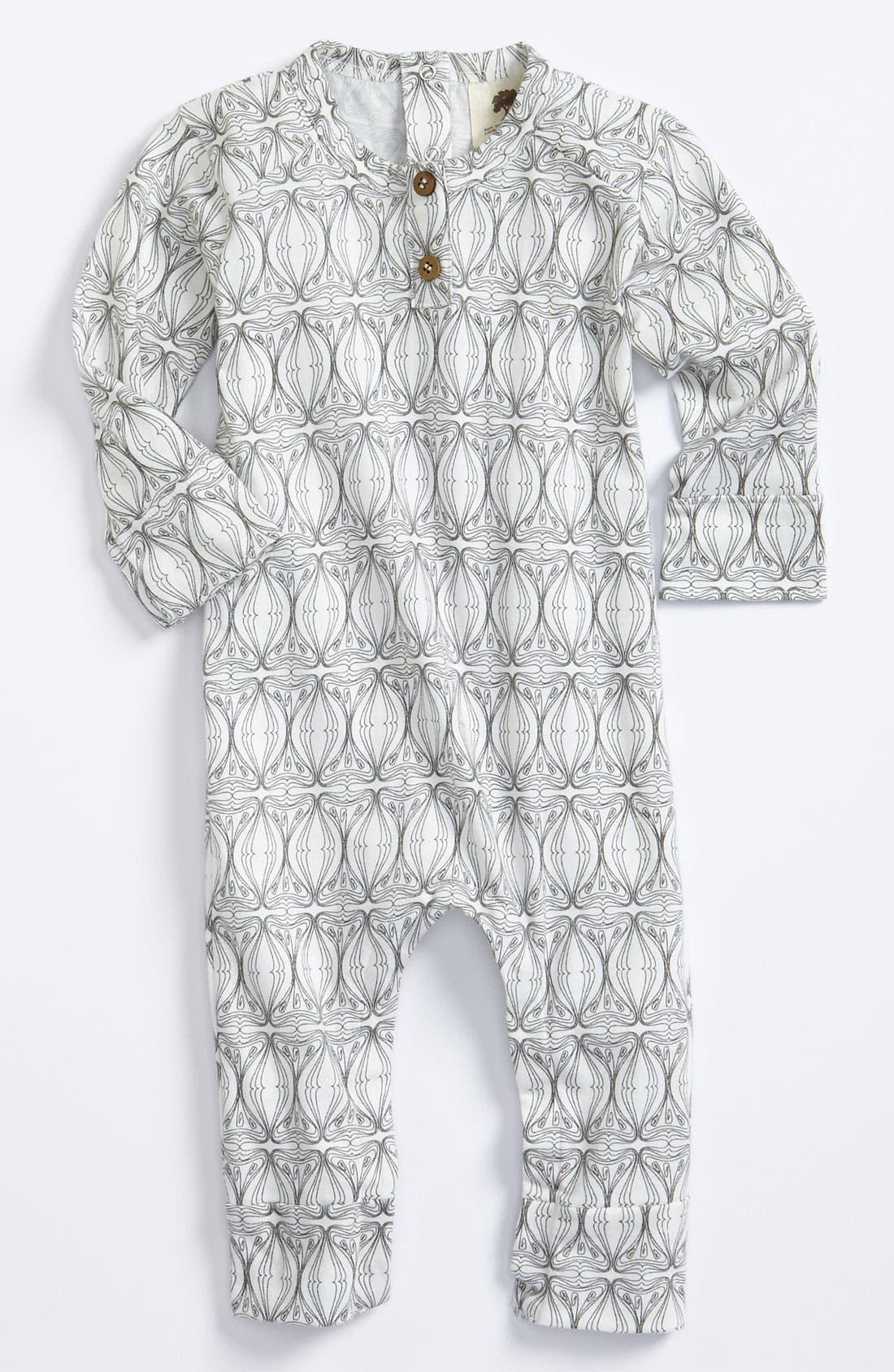 Alternate Image 1 Selected - Kate Quinn Organics Print Romper (Infant)