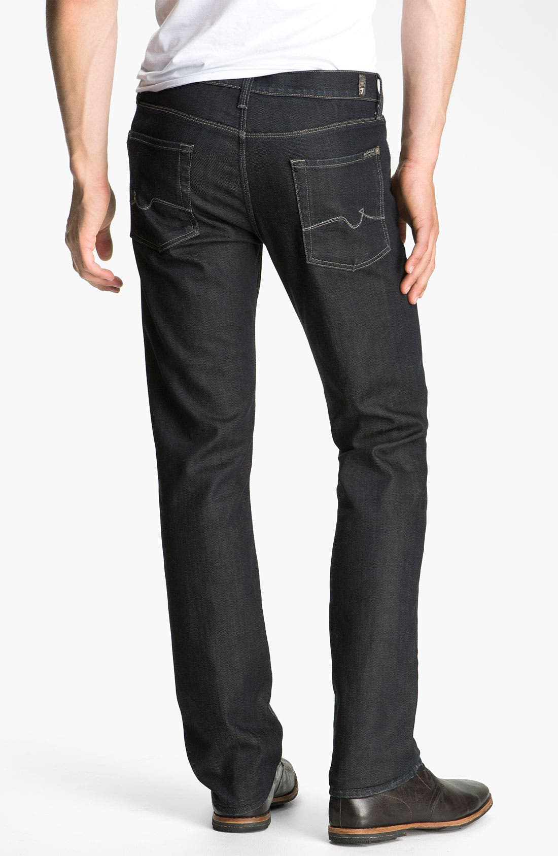 Alternate Image 1  - 7 For All Mankind® 'Slimmy' Slim Fit Jeans (Chester Row)