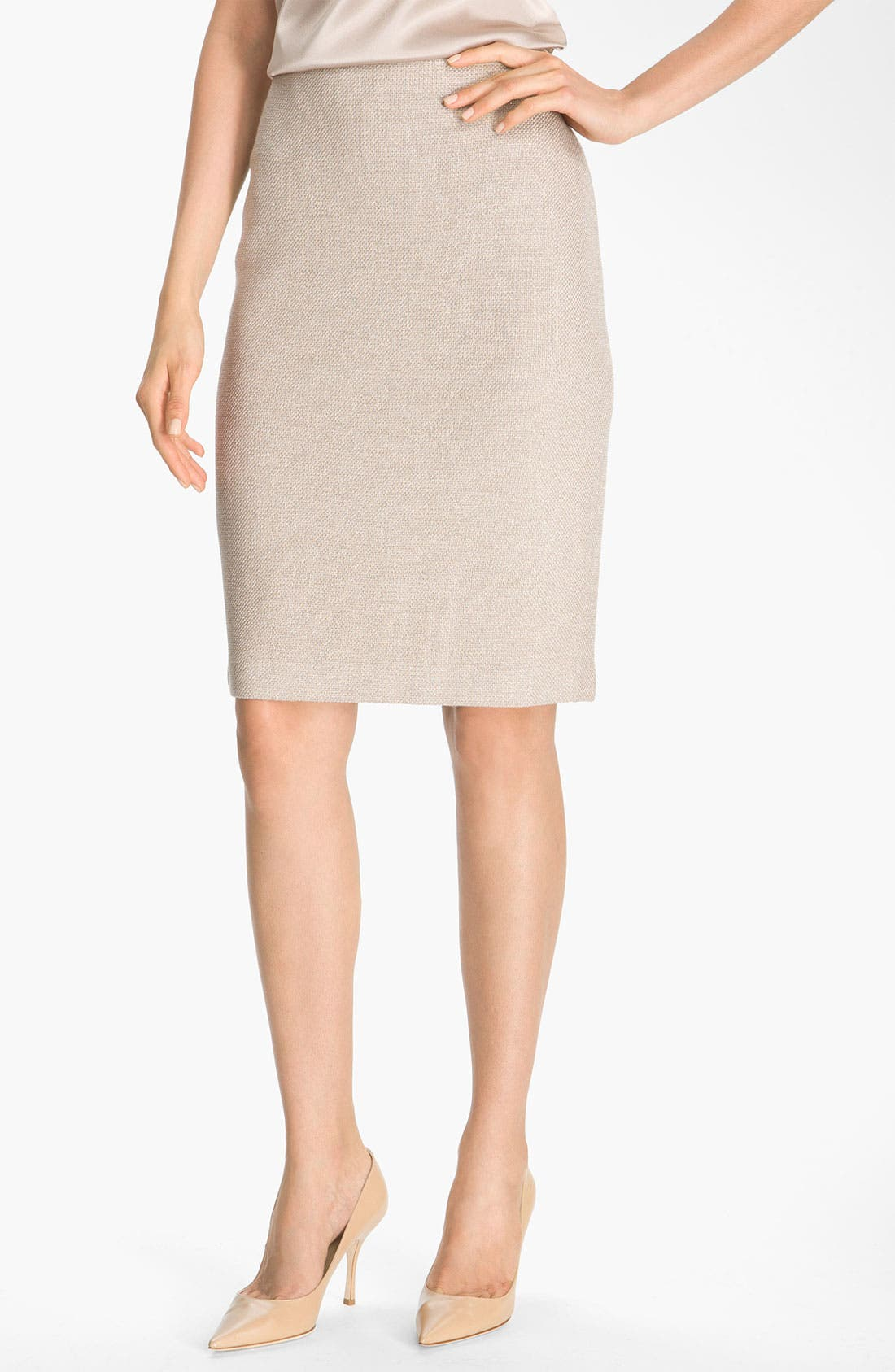 Alternate Image 2  - St. John Collection Shimmer Knit Pencil Skirt