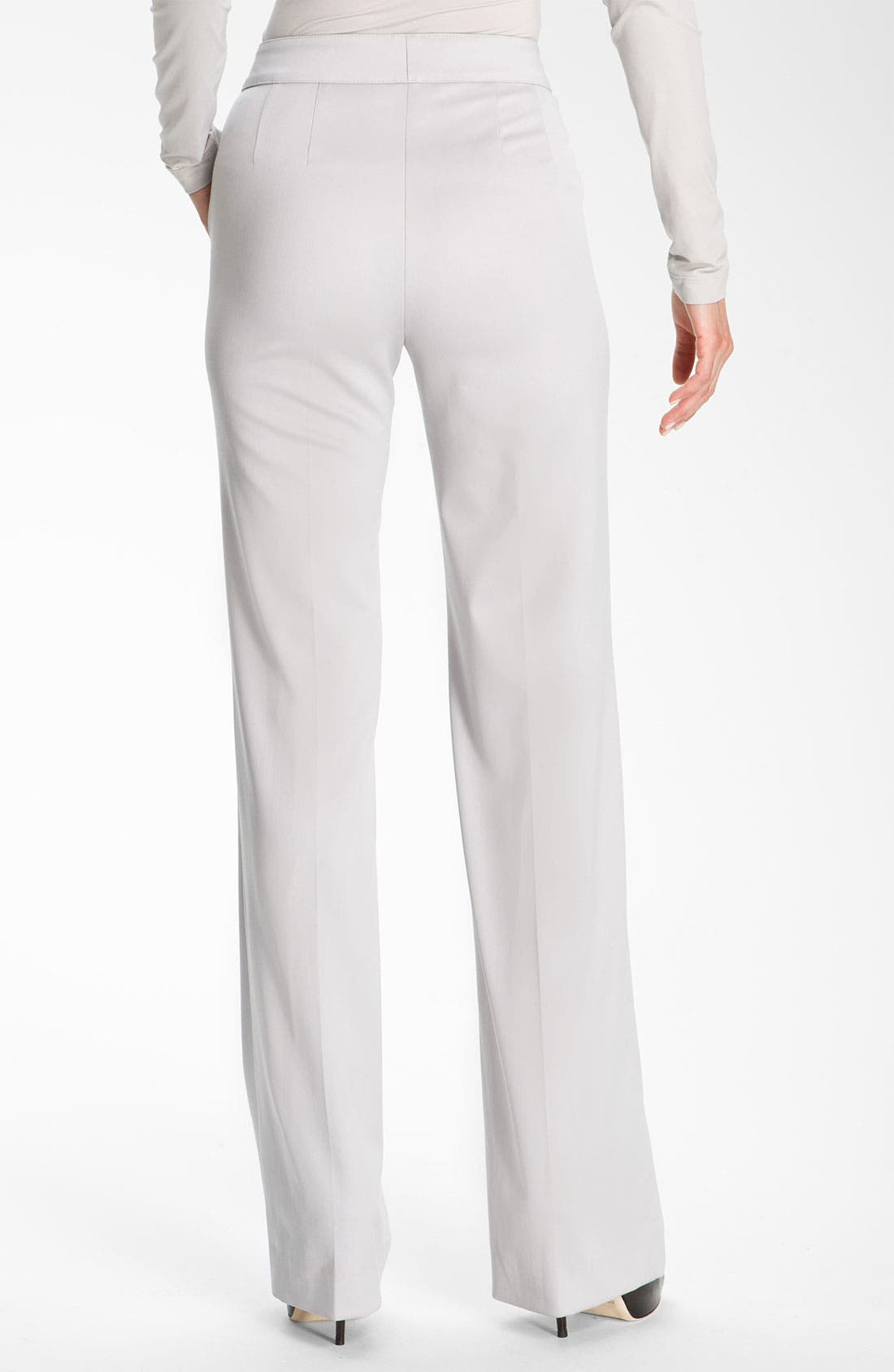 Alternate Image 3  - St. John Collection Flare Leg Stretch Venetian Wool Pants