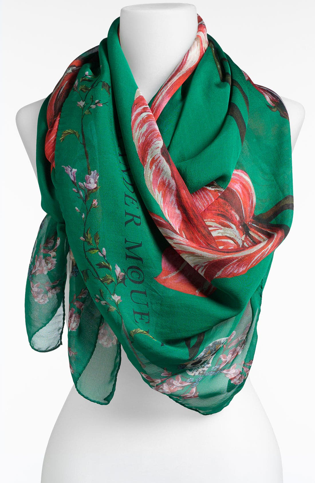 Alternate Image 1 Selected - Alexander McQueen 'Tulip Skull' Scarf