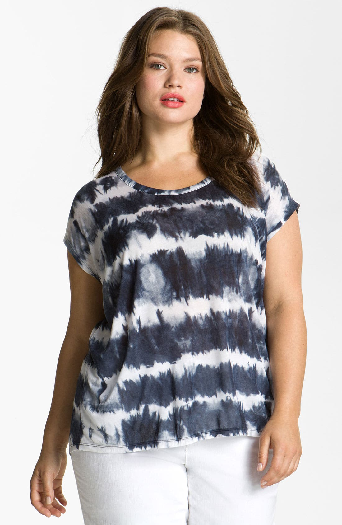 Alternate Image 1 Selected - MICHAEL Michael Kors Tie Dye Top (Plus)