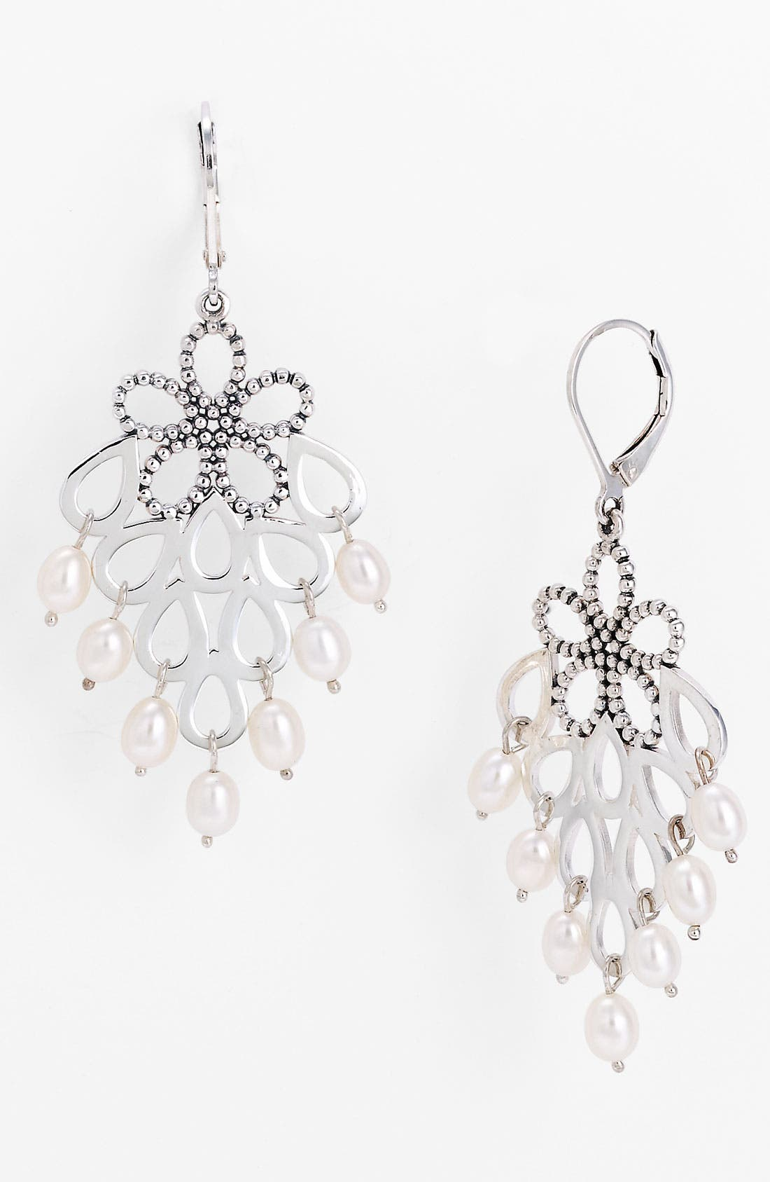 Alternate Image 1 Selected - LAGOS 'Luna Pearl' Floral Cluster Earrings