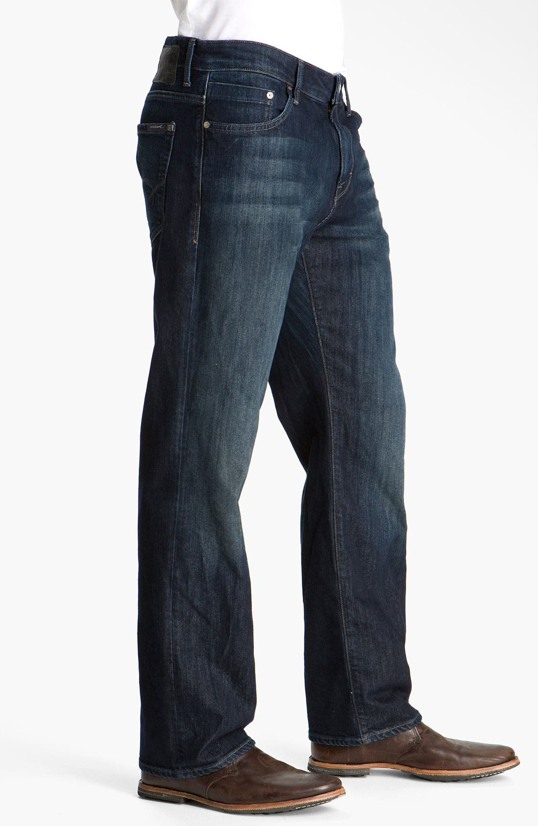 Alternate Image 3  - Mavi Jeans 'Matt' Relaxed Fit Jeans (Deep Stanford Comfort) (Regular & Tall) (Online Only)
