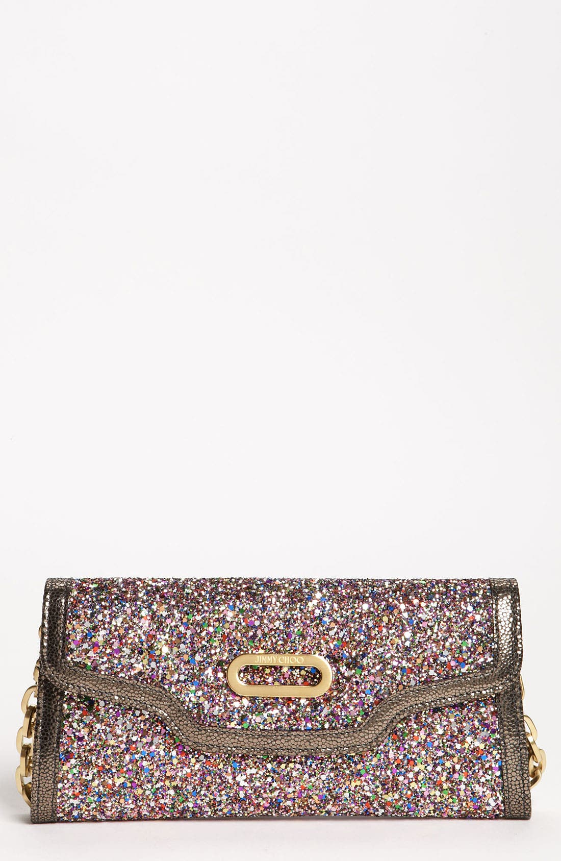 Alternate Image 1 Selected - Jimmy Choo Glitter Clutch