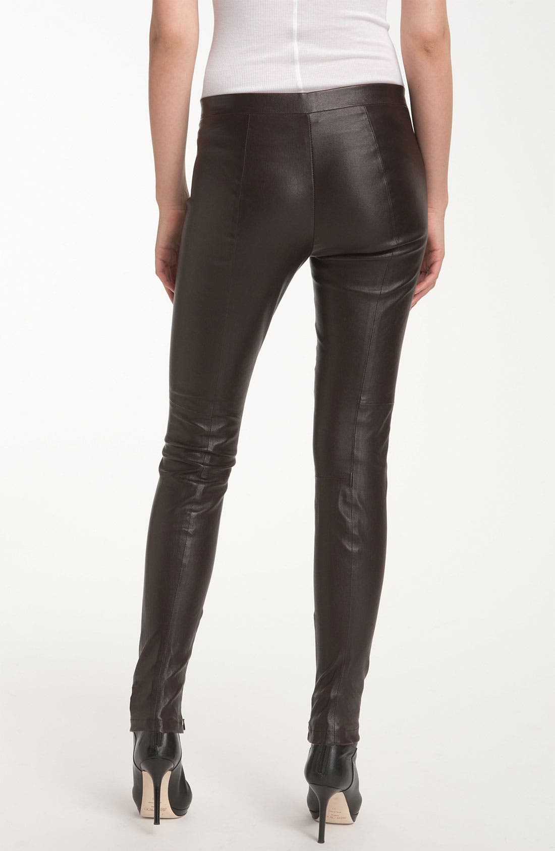 Alternate Image 2  - Vince Ankle Zip Leather Legging
